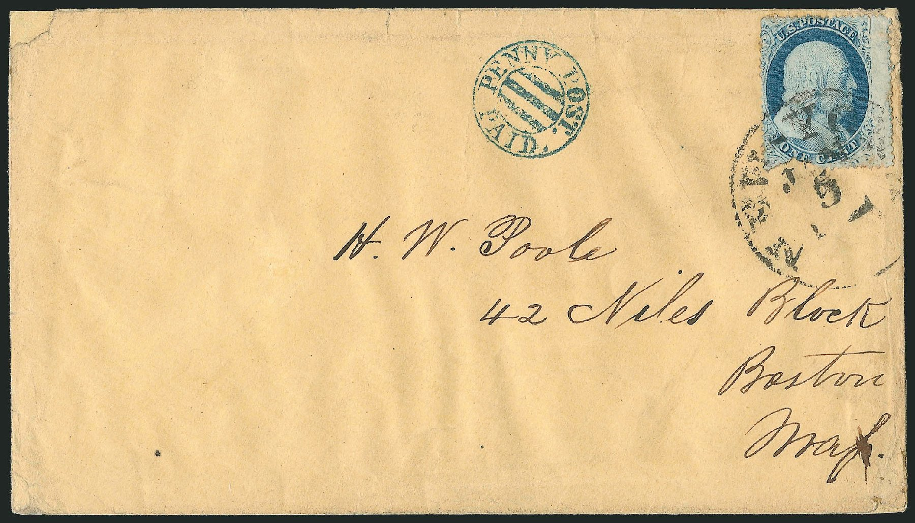 US Stamps Prices Scott 24 - 1c 1857 Franklin. Robert Siegel Auction Galleries, Jun 2015, Sale 1105, Lot 2548