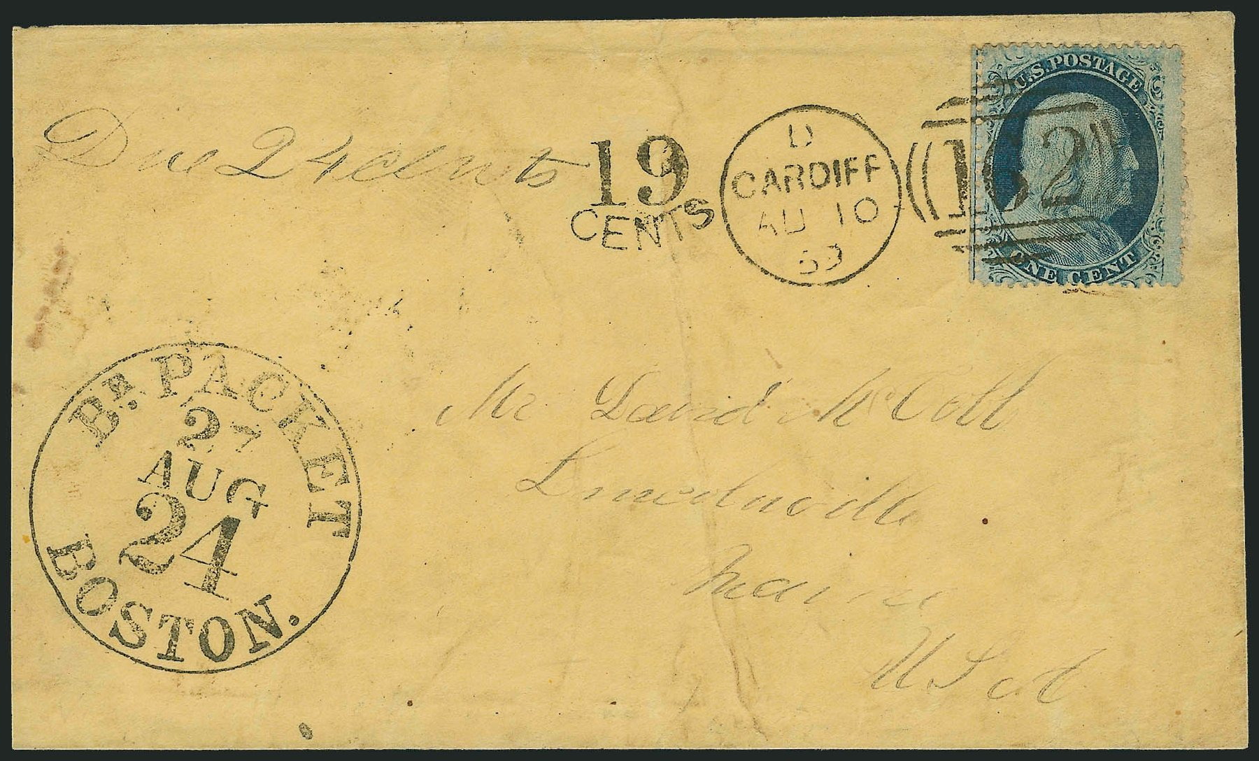 Values of US Stamp Scott Cat. # 24: 1c 1857 Franklin. Robert Siegel Auction Galleries, Jun 2015, Sale 1105, Lot 2549