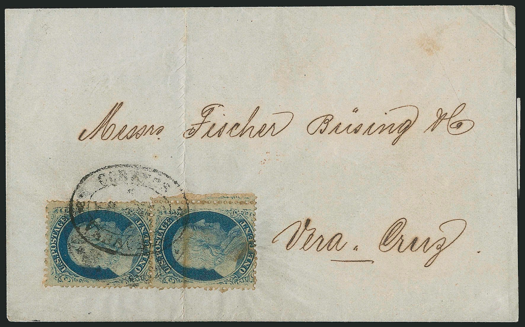 Costs of US Stamp Scott Cat. #24 - 1c 1857 Franklin. Robert Siegel Auction Galleries, Jun 2015, Sale 1105, Lot 2550