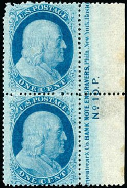 Price of US Stamps Scott # 24: 1c 1857 Franklin. Schuyler J. Rumsey Philatelic Auctions, Apr 2015, Sale 60, Lot 2724
