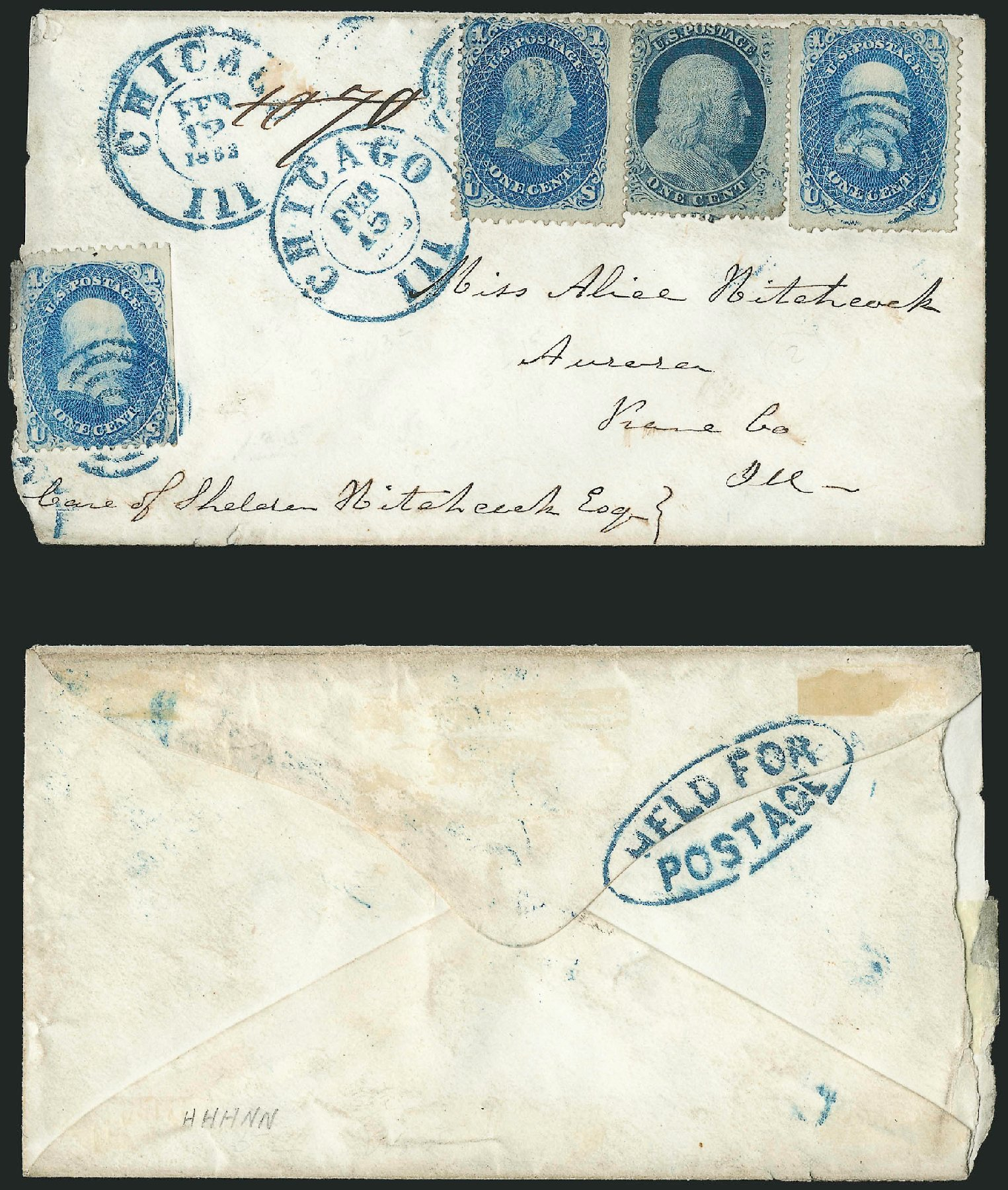 Costs of US Stamps Scott Catalog 24: 1857 1c Franklin. Robert Siegel Auction Galleries, Jun 2015, Sale 1105, Lot 2572