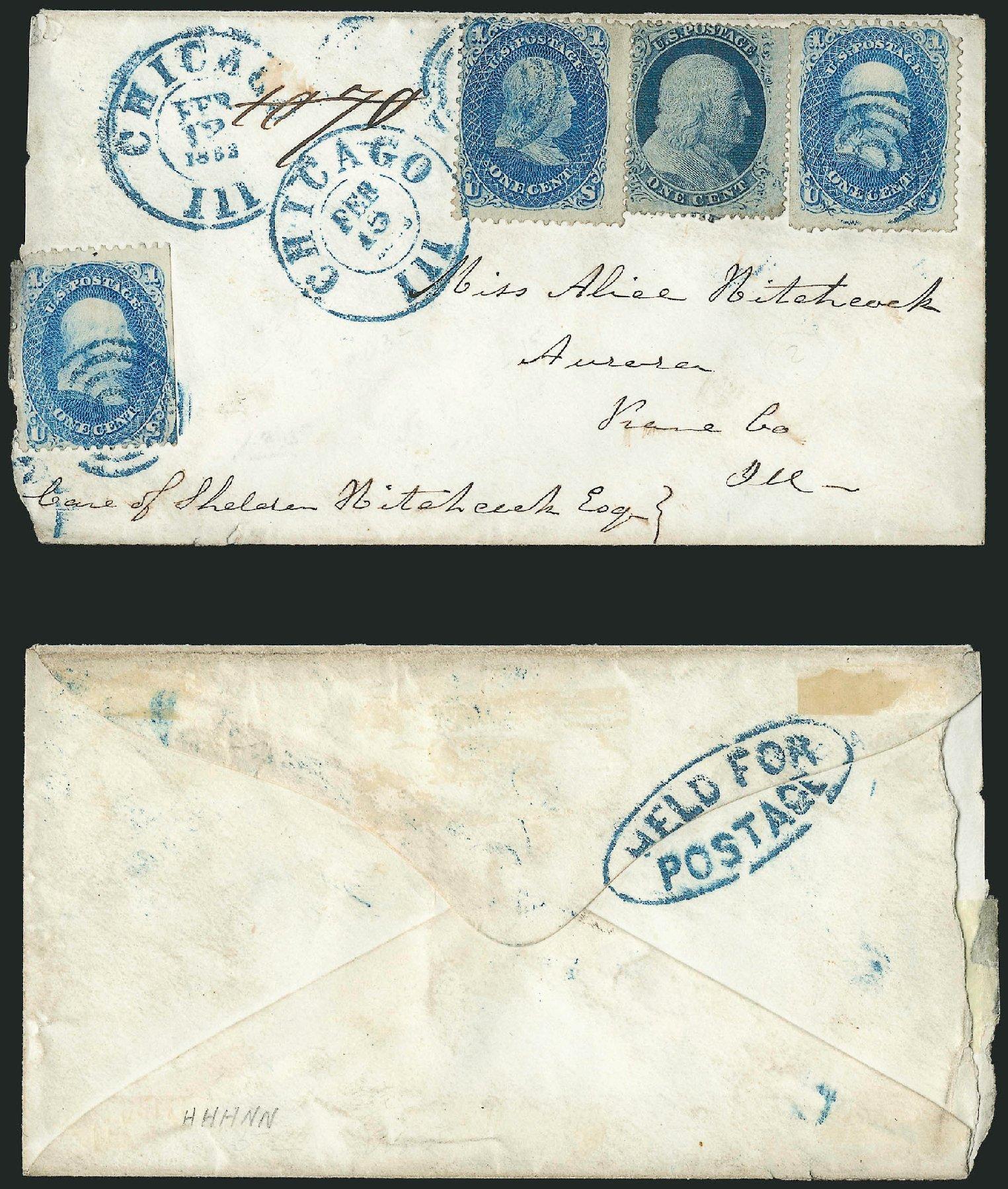 Costs of US Stamps Scott Catalog 24: 1857 1c Franklin. Robert Siegel Auction Galleries, Jun 2015, Sale 1105, Lot 2572