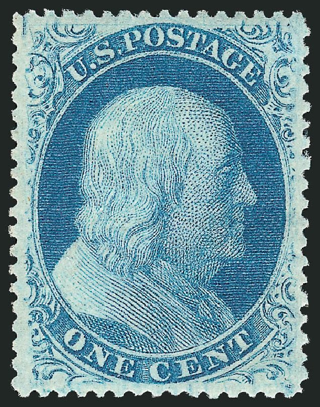 Values of US Stamp Scott # 24: 1c 1857 Franklin. Robert Siegel Auction Galleries, Apr 2015, Sale 1096, Lot 53