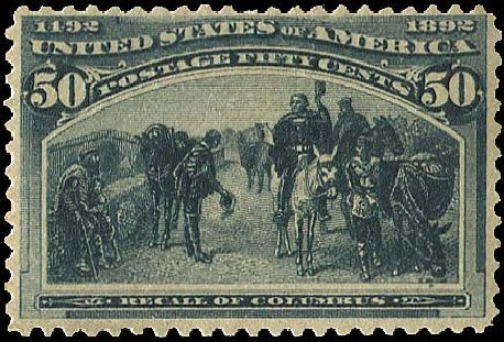 Price of US Stamp Scott 240: 1893 50c Columbian Exposition. Regency-Superior, Aug 2015, Sale 112, Lot 440