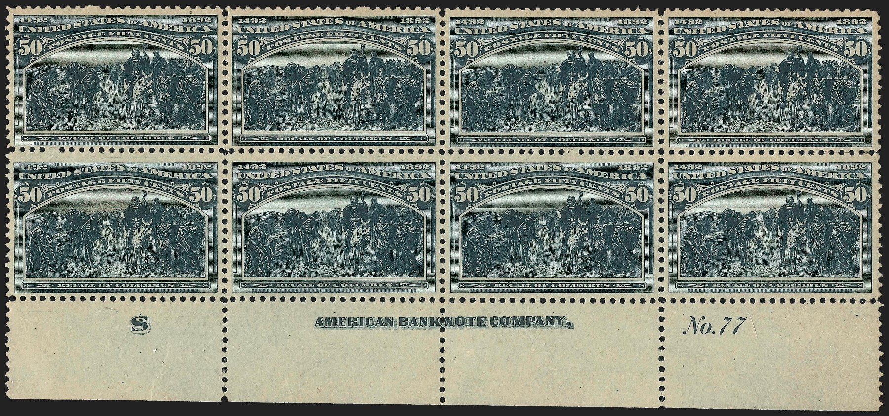 Price of US Stamps Scott Catalog #240 - 50c 1893 Columbian Exposition. Robert Siegel Auction Galleries, Jul 2015, Sale 1107, Lot 324