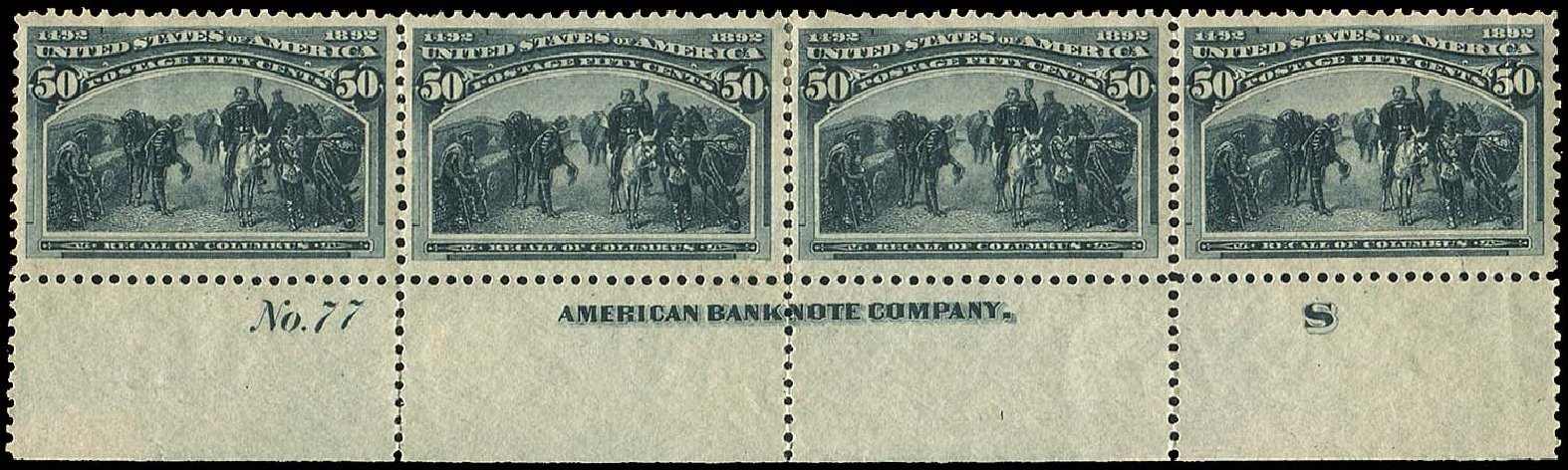 Values of US Stamps Scott #240: 1893 50c Columbian Exposition. Regency-Superior, Aug 2015, Sale 112, Lot 432