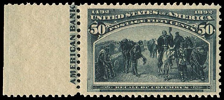 Value of US Stamps Scott Cat. 240: 1893 50c Columbian Exposition. Regency-Superior, Aug 2015, Sale 112, Lot 433