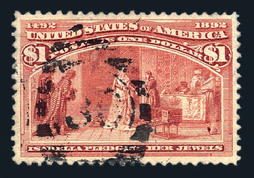 US Stamps Price Scott Cat. 241: US$1.00 1893 Columbian Exposition. Harmer-Schau Auction Galleries, Aug 2015, Sale 106, Lot 1637