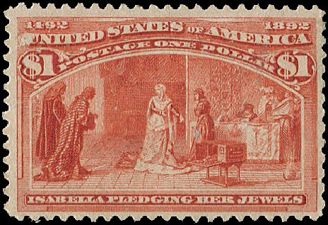Value of US Stamps Scott 241 - US$1.00 1893 Columbian Exposition. Regency-Superior, Aug 2015, Sale 112, Lot 449
