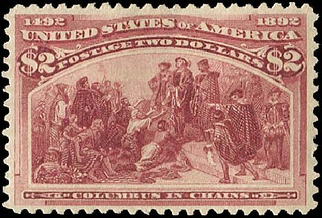 Values of US Stamp Scott # 242: 1893 US$2.00 Columbian Exposition. Regency-Superior, Aug 2015, Sale 112, Lot 457