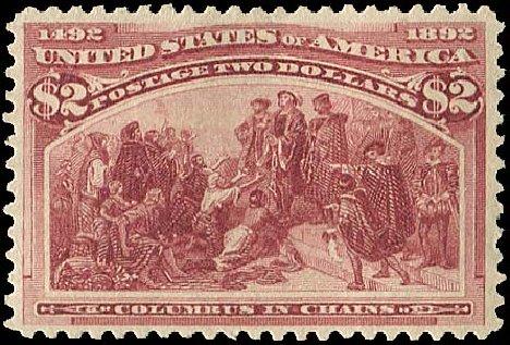 Values of US Stamp Scott # 242: 1893 US$2.00 Columbian Exposition. Regency-Superior, Aug 2015, Sale 112, Lot 457