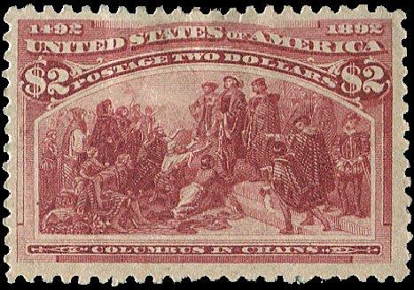 Value of US Stamps Scott Catalog #242: US$2.00 1893 Columbian Exposition. Regency-Superior, Aug 2015, Sale 112, Lot 458