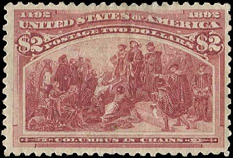 Costs of US Stamps Scott #242: US$2.00 1893 Columbian Exposition. Regency-Superior, Aug 2015, Sale 112, Lot 459
