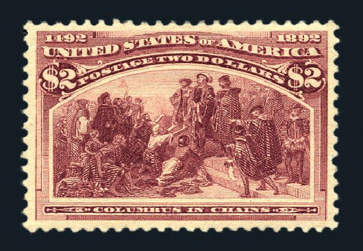 Prices of US Stamp Scott Catalog 242 - US$2.00 1893 Columbian Exposition. Harmer-Schau Auction Galleries, Aug 2015, Sale 106, Lot 1640