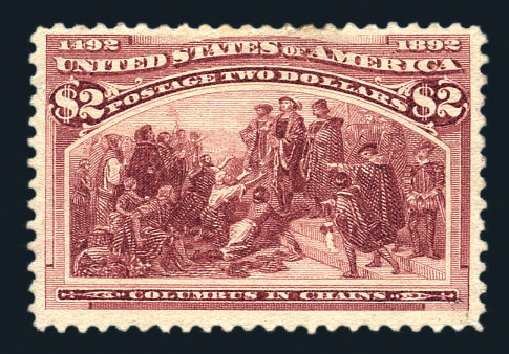 US Stamps Values Scott Catalog #242: 1893 US$2.00 Columbian Exposition. Harmer-Schau Auction Galleries, Aug 2015, Sale 106, Lot 1641
