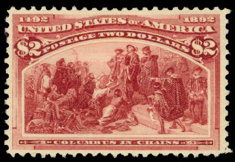 Prices of US Stamps Scott Catalog 242: US$2.00 1893 Columbian Exposition. Daniel Kelleher Auctions, Aug 2015, Sale 672, Lot 2491