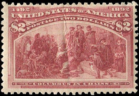 Prices of US Stamp Scott Cat. #242: 1893 US$2.00 Columbian Exposition. Regency-Superior, Aug 2015, Sale 112, Lot 461