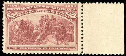 Costs of US Stamps Scott Catalog #242 - US$2.00 1893 Columbian Exposition. Spink Shreves Galleries, Jul 2015, Sale 151, Lot 191