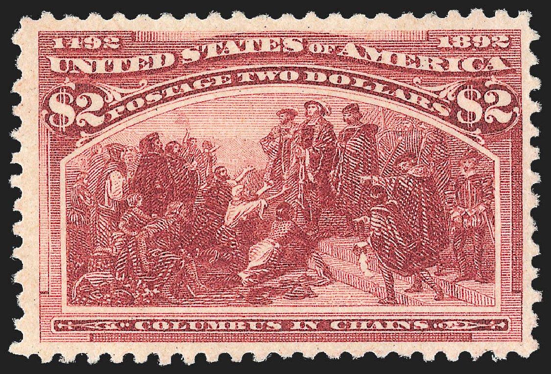 US Stamps Prices Scott Catalog 242 - US$2.00 1893 Columbian Exposition. Robert Siegel Auction Galleries, Jul 2015, Sale 1107, Lot 334