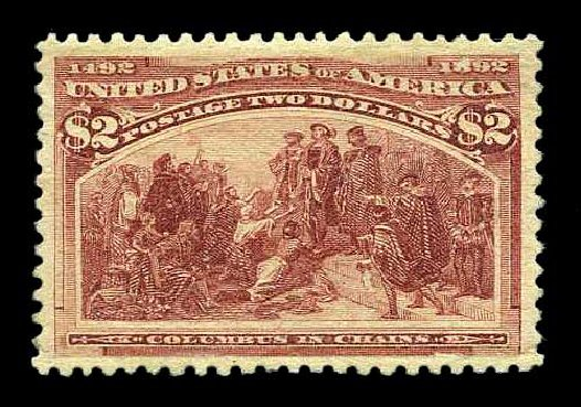 Costs of US Stamp Scott 242 - 1893 US$2.00 Columbian Exposition. Harmer-Schau Auction Galleries, Aug 2015, Sale 106, Lot 1642