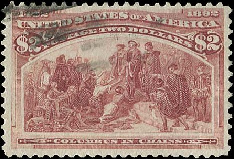 Values of US Stamp Scott Catalog 242: US$2.00 1893 Columbian Exposition. Regency-Superior, Aug 2015, Sale 112, Lot 462