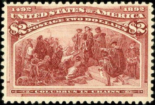 US Stamp Values Scott 242 - US$2.00 1893 Columbian Exposition. Spink Shreves Galleries, Jul 2015, Sale 151, Lot 192