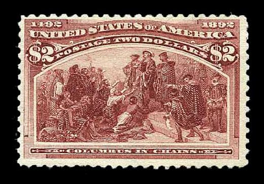Prices of US Stamps Scott Cat. # 242: 1893 US$2.00 Columbian Exposition. Harmer-Schau Auction Galleries, Aug 2015, Sale 106, Lot 1643