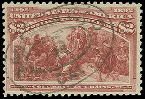 Prices of US Stamps Scott Catalog #242 - US$2.00 1893 Columbian Exposition. H.R. Harmer, Jun 2015, Sale 3007, Lot 3253