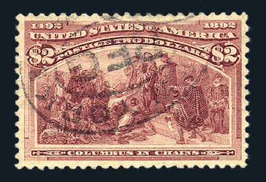 US Stamps Value Scott 242 - 1893 US$2.00 Columbian Exposition. Harmer-Schau Auction Galleries, Aug 2015, Sale 106, Lot 1646