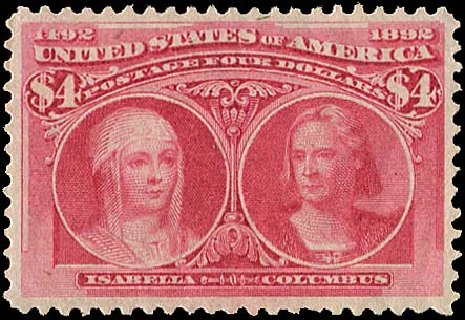 Cost of US Stamps Scott #244: US$4.00 1893 Columbian Exposition. Regency-Superior, Aug 2015, Sale 112, Lot 471