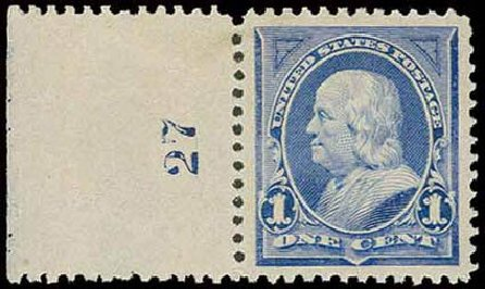 Costs of US Stamp Scott Catalog 246: 1894 1c Franklin. H.R. Harmer, Nov 2013, Sale 3004, Lot 1187