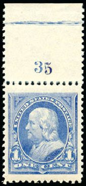 Costs of US Stamps Scott # 246 - 1c 1894 Franklin. Schuyler J. Rumsey Philatelic Auctions, Apr 2015, Sale 60, Lot 2739