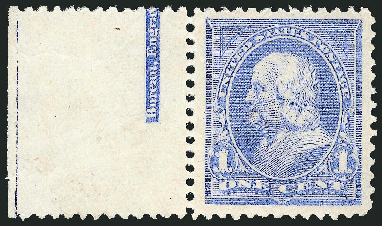 US Stamps Values Scott Catalogue # 246: 1c 1894 Franklin. Robert Siegel Auction Galleries, Nov 2013, Sale 1061, Lot 3741