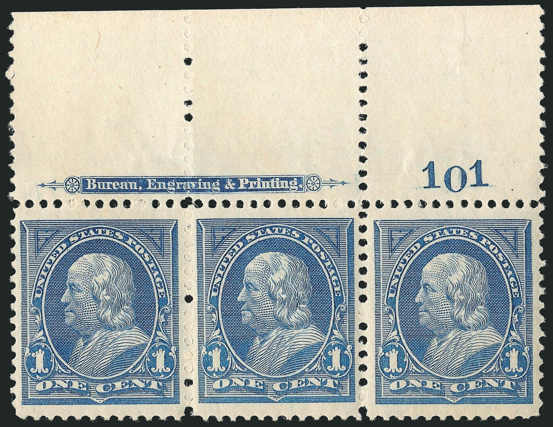 Costs of US Stamp Scott Cat. 247 - 1894 1c Franklin. Robert Siegel Auction Galleries, Mar 2014, Sale 1067, Lot 1248