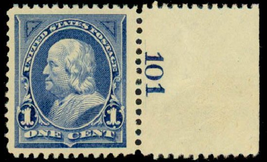 Cost of US Stamp Scott Catalogue 247: 1894 1c Franklin. Daniel Kelleher Auctions, Sep 2013, Sale 639, Lot 3339