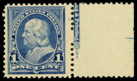 Price of US Stamp Scott 247 - 1c 1894 Franklin. Daniel Kelleher Auctions, Mar 2013, Sale 635, Lot 370