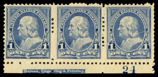 Cost of US Stamps Scott Catalog #247 - 1c 1894 Franklin. Daniel Kelleher Auctions, May 2015, Sale 669, Lot 2765