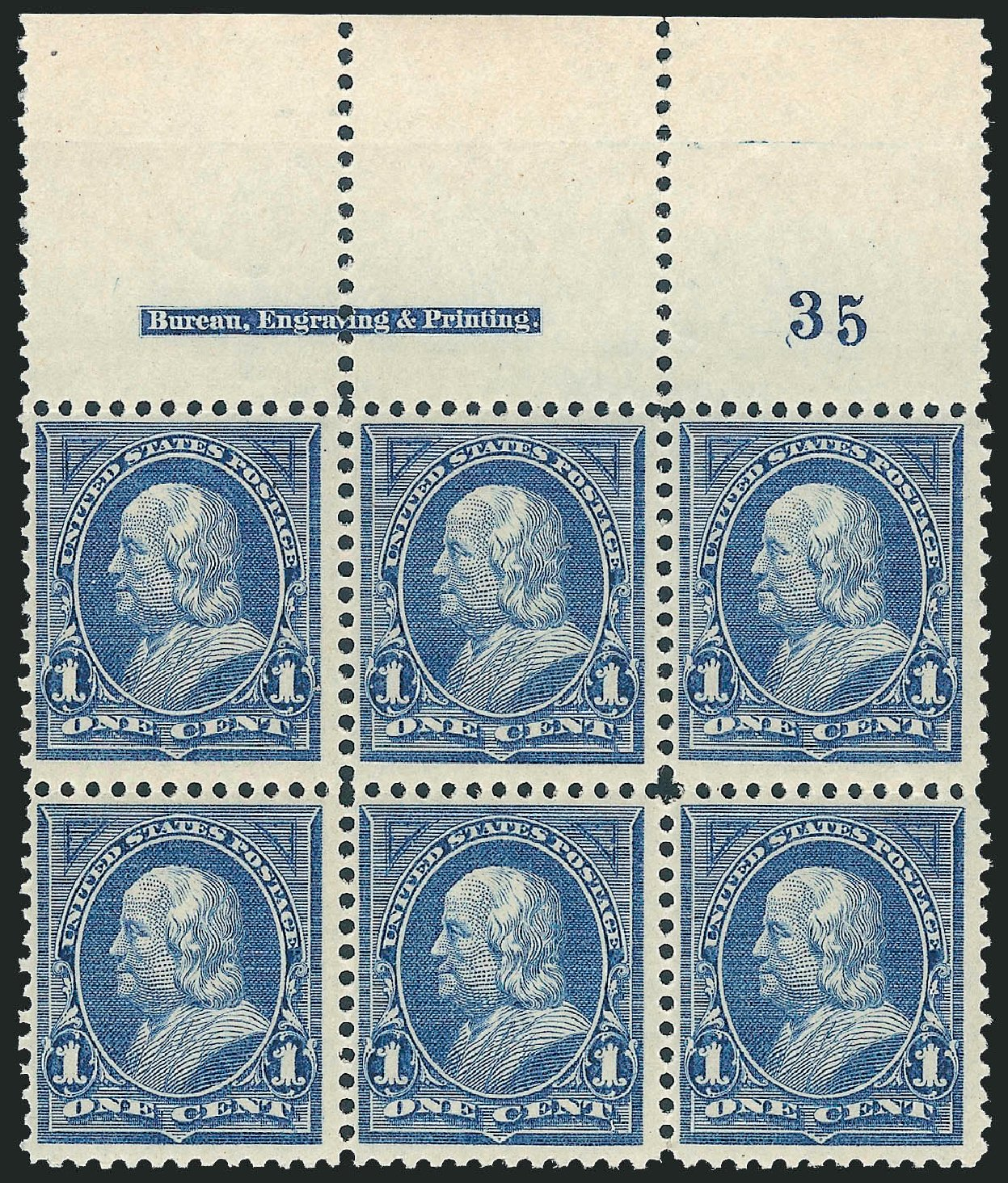US Stamp Value Scott Cat. # 247: 1894 1c Franklin. Robert Siegel Auction Galleries, Dec 2012, Sale 1037, Lot 1865