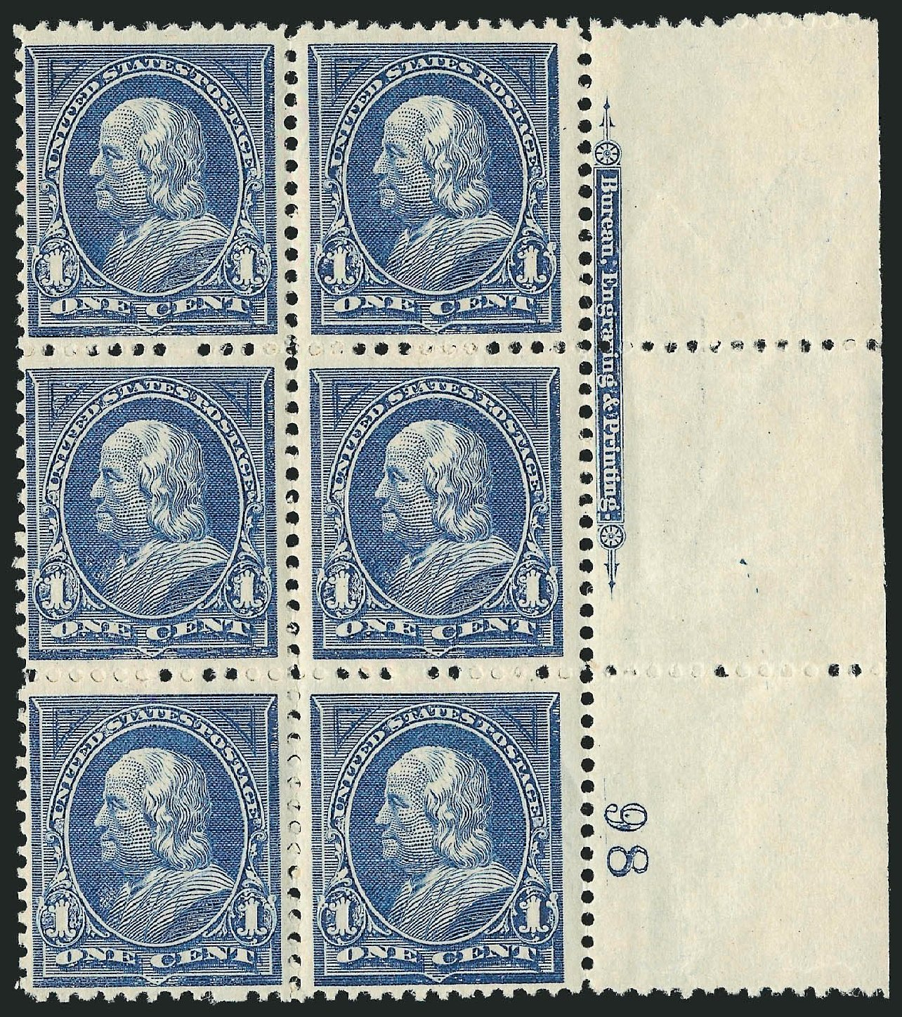 Value of US Stamp Scott # 247: 1c 1894 Franklin. Robert Siegel Auction Galleries, Nov 2014, Sale 1084, Lot 3562