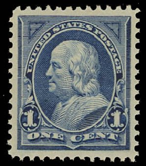 Prices of US Stamps Scott Cat. # 247 - 1894 1c Franklin. Daniel Kelleher Auctions, Oct 2012, Sale 632, Lot 1156