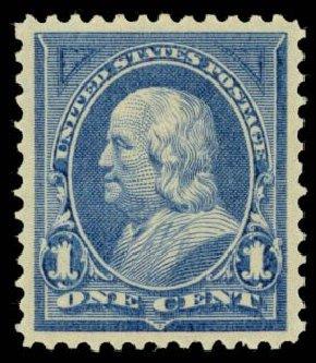 US Stamp Price Scott Cat. #247 - 1c 1894 Franklin. Daniel Kelleher Auctions, Sep 2013, Sale 639, Lot 1086
