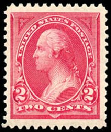 Cost of US Stamp Scott Cat. 249: 1894 2c Washington. Schuyler J. Rumsey Philatelic Auctions, Apr 2015, Sale 60, Lot 2247