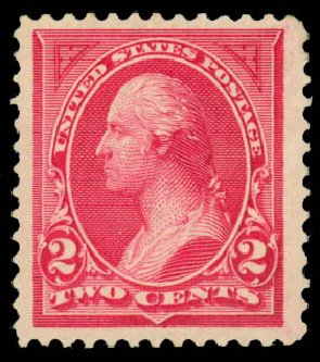 Costs of US Stamp Scott Catalogue 249: 1894 2c Washington. Daniel Kelleher Auctions, Jan 2015, Sale 663, Lot 1508