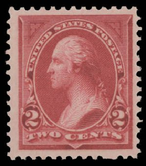 Costs of US Stamp Scott Cat. 249 - 2c 1894 Washington. Daniel Kelleher Auctions, Aug 2015, Sale 672, Lot 2530