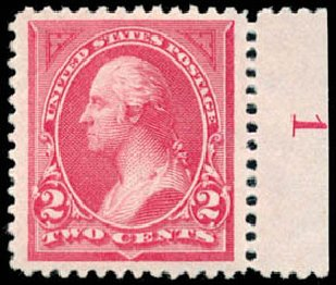 US Stamp Value Scott # 249: 1894 2c Washington. Schuyler J. Rumsey Philatelic Auctions, Apr 2015, Sale 60, Lot 2740