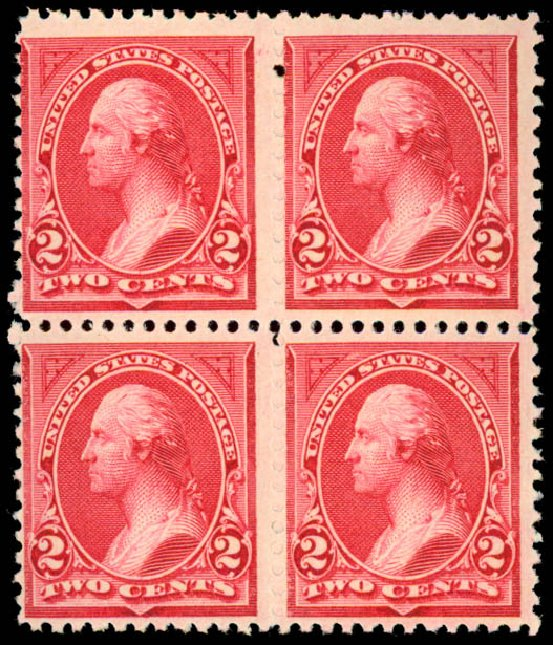 Values of US Stamp Scott Catalogue 249: 2c 1894 Washington. Daniel Kelleher Auctions, Aug 2015, Sale 672, Lot 2531