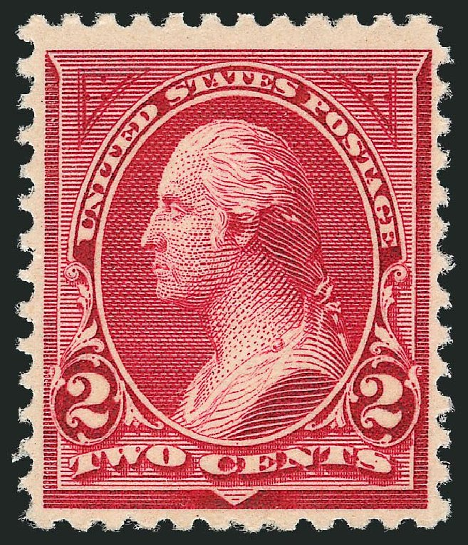 US Stamps Values Scott 249: 1894 2c Washington. Robert Siegel Auction Galleries, Sep 2014, Sale 1078, Lot 381