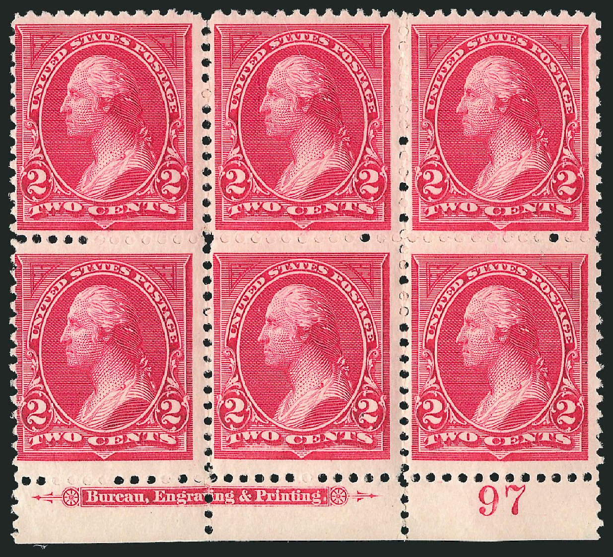 Prices of US Stamps Scott #249: 2c 1894 Washington. Robert Siegel Auction Galleries, Apr 2015, Sale 1096, Lot 441