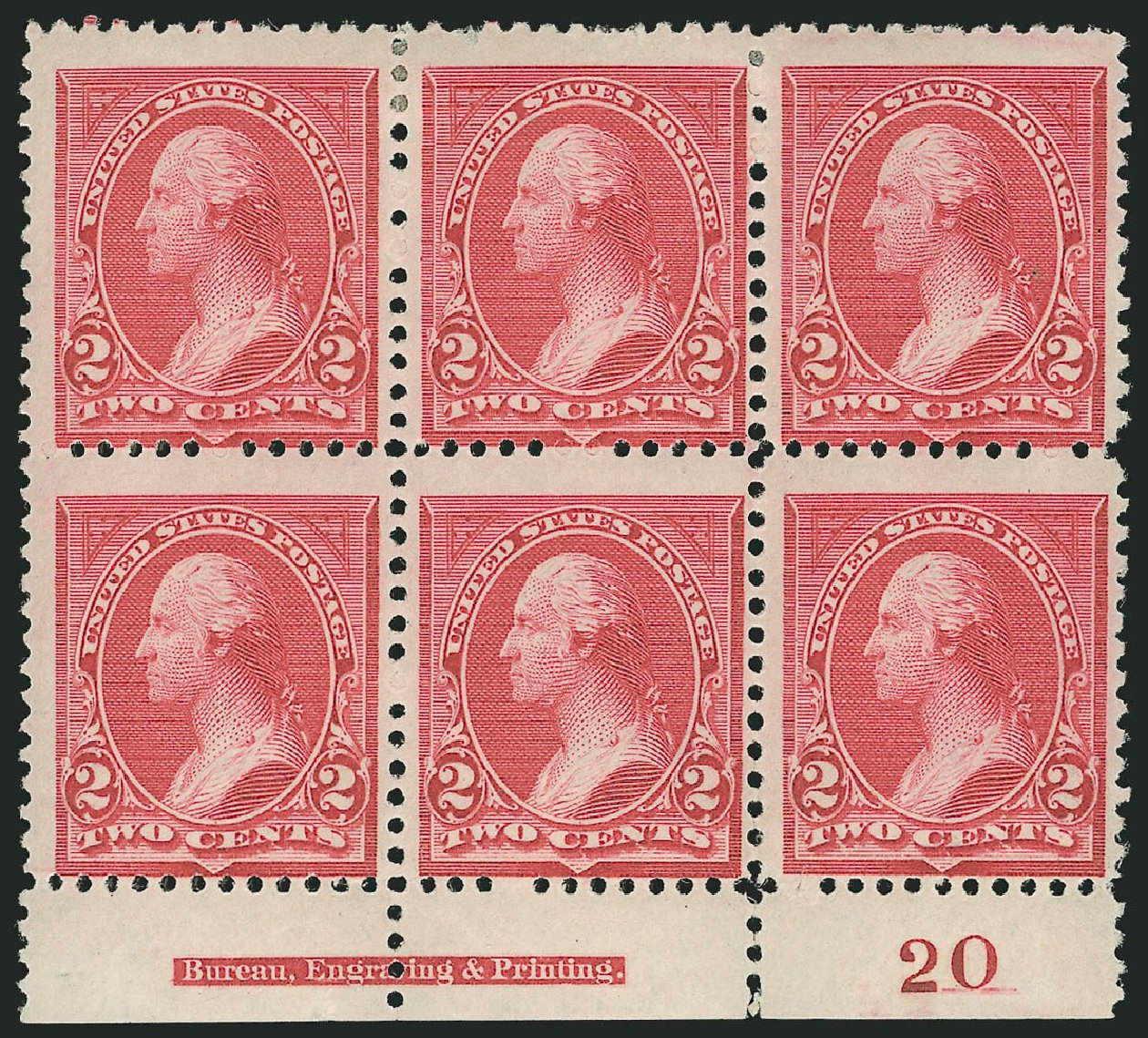 Prices of US Stamps Scott Cat. # 249 - 2c 1894 Washington. Robert Siegel Auction Galleries, Nov 2014, Sale 1084, Lot 3564