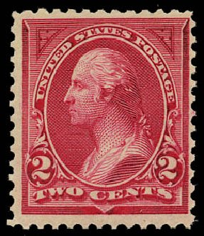 Value of US Stamp Scott Catalogue #249: 1894 2c Washington. Daniel Kelleher Auctions, May 2015, Sale 669, Lot 2766